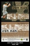 2007 SPx Iron Man #IM28