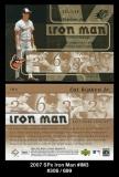 2007 SPx Iron Man #IM3