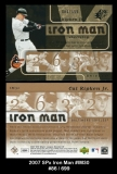 2007 SPx Iron Man #IM30