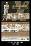 2007 SPx Iron Man #IM31