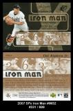 2007 SPx Iron Man #IM32