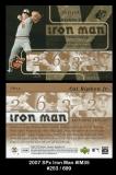 2007 SPx Iron Man #IM35