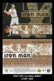 2007 SPx Iron Man #IM37