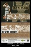 2007 SPx Iron Man #IM39