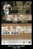 2007 SPx Iron Man #IM41