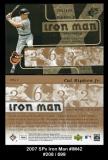 2007 SPx Iron Man #IM42