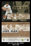2007 SPx Iron Man #IM43