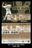 2007 SPx Iron Man #IM48