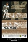 2007 SPx Iron Man #IM51