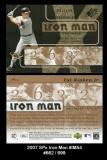 2007 SPx Iron Man #IM54