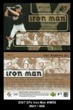 2007 SPx Iron Man #IM56