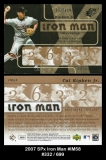 2007 SPx Iron Man #IM58