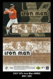 2007 SPx Iron Man #IM60