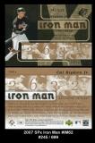 2007 SPx Iron Man #IM62