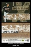 2007 SPx Iron Man #IM63