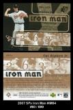 2007 SPx Iron Man #IM64
