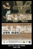 2007 SPx Iron Man #IM66