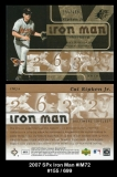 2007 SPx Iron Man #IM72
