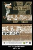 2007 SPx Iron Man #IM75
