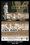 2007 SPx Iron Man #IM76