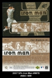 2007 SPx Iron Man #IM78