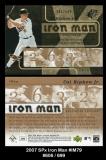 2007 SPx Iron Man #IM79