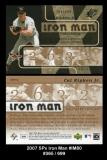 2007 SPx Iron Man #IM80