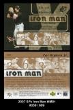 2007 SPx Iron Man #IM81