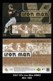 2007 SPx Iron Man #IM82