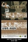 2007 SPx Iron Man #IM85
