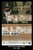 2007 SPx Iron Man #IM87