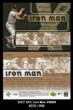 2007 SPx Iron Man #IM88