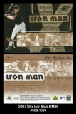 2007 SPx Iron Man #IM89