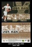 2007 SPx Iron Man #IM9