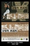 2007 SPx Iron Man #IM90
