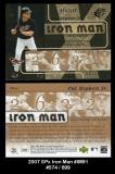 2007 SPx Iron Man #IM91