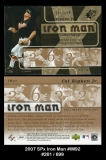 2007 SPx Iron Man #IM92