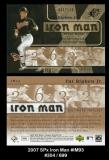 2007 SPx Iron Man #IM93