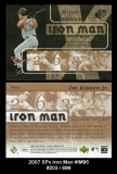 2007 SPx Iron Man #IM95