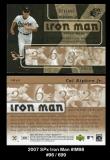 2007 SPx Iron Man #IM98