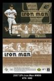 2007 SPx Iron Man #IM99