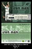 2007 SPx Iron Man Platinum #IM100 Game 12