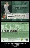 2007 SPx Iron Man Platinum #IM15 Game 2259