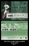 2007 SPx Iron Man Platinum #IM16 Game 2218