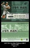 2007 SPx Iron Man Platinum #IM17