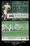 2007 SPx Iron Man Platinum #IM21 Game 2088