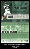 2007 SPx Iron Man Platinum #IM23
