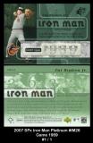 2007 SPx Iron Man Platinum #IM26