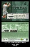 2007 SPx Iron Man Platinum #IM28 Game 1908