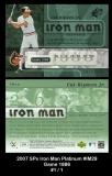 2007 SPx Iron Man Platinum #IM29 Game 1886